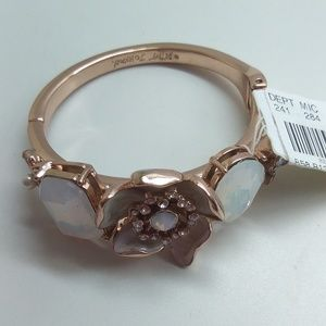 Betsey Johnson New White Butterfly/Flower Bracelet